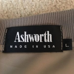 Ashworth Shirts - Ashworth Golf Pullover Beige Crew Neck -L